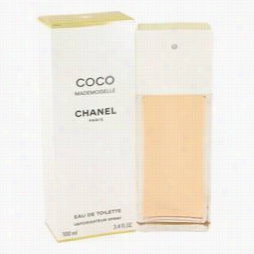 Coco Mademoiselle Perfume By Chanel, 3.4 Ozeau De Toilette Sprray For Women