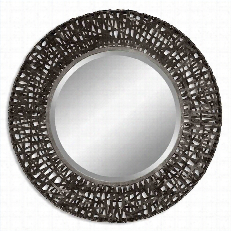 Uttermost Alita Black Woven Metal Mirror