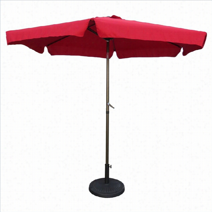 International Caravan St. Kitts Patio Umbfella In  Ruby Red