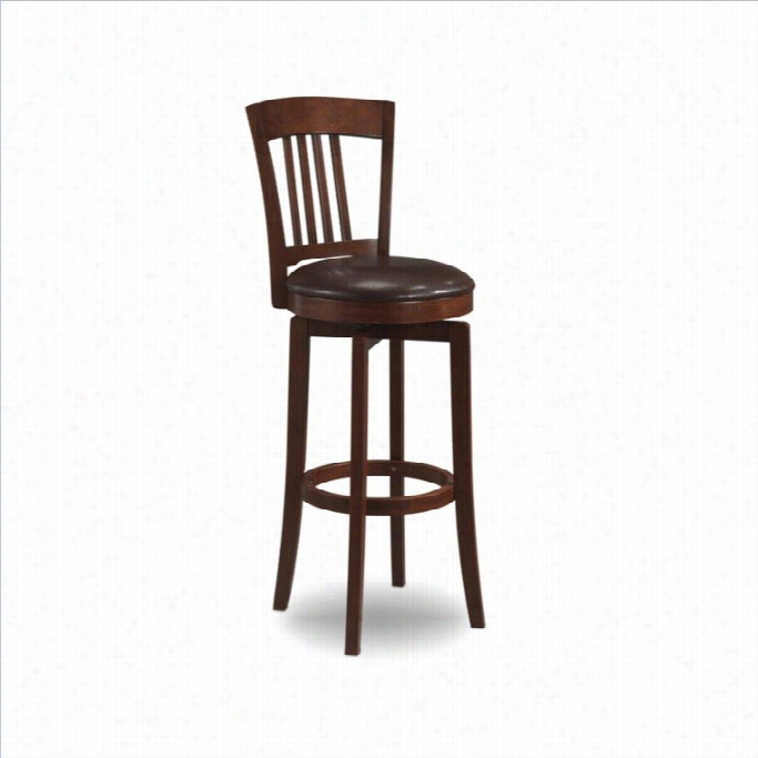 Hillsdale  Canton 30  Swivel  Bar Stool Wkth Vinyl Seatin Brown