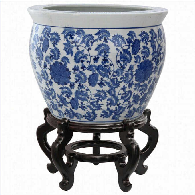 Eastern Furniture 20 Fishbowl In Blue And White