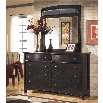Ashley Harmony 2 Piece Dresser Set in Dark Brown