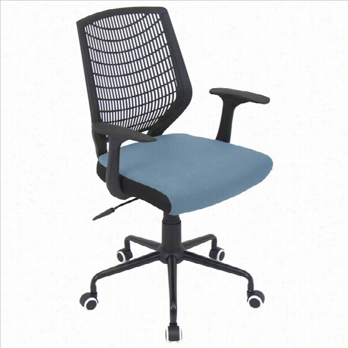Lumisource Netting Offic E Chair In Black And Blue