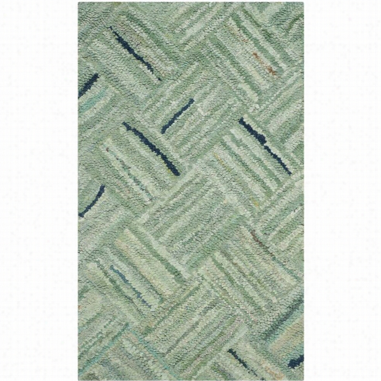 Safavieh Nantucket Green Contemporary Rug - 2' X 3'