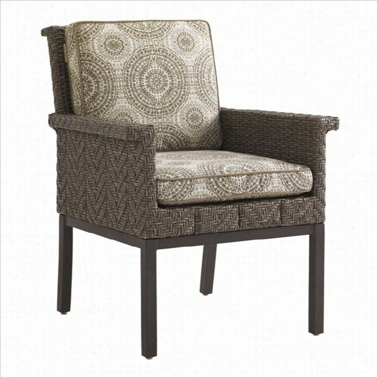Tommy  Bahama Home Blue Olive Wick Er Dining Chair-gray