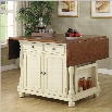 Coaster Kitchen Island with Drop Leaves in Butter Milk