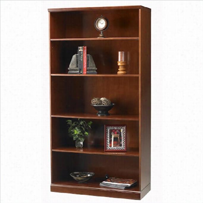 Mayline Sorrento 5 Shelf Bookcase In Bourbon Cherry