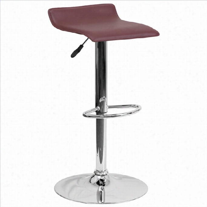 Flash Furnigure Backless Bar Stool In Burgundy