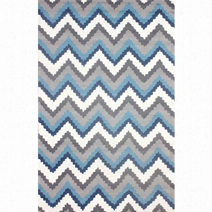 Nuloom 5' X 8' Hand Hooked Jean Area Rug In Blue Multi
