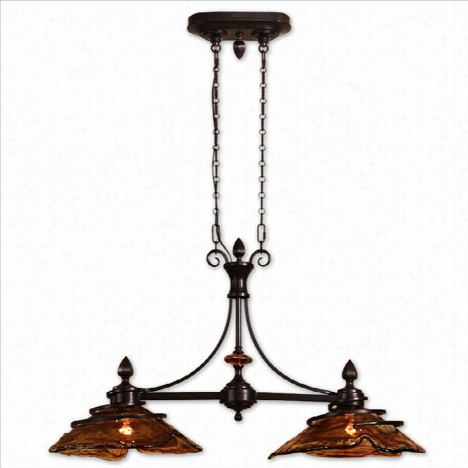 Uttermost Vitalia 2 Light Kitchen Island Light In Oil Rubbed Bronze