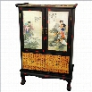 Oriental Beauty in The Garden 2 Door Accent Chest