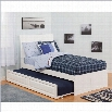 Atlantic Furniture Soho Bed with Urban Trundle in White-Full Size
