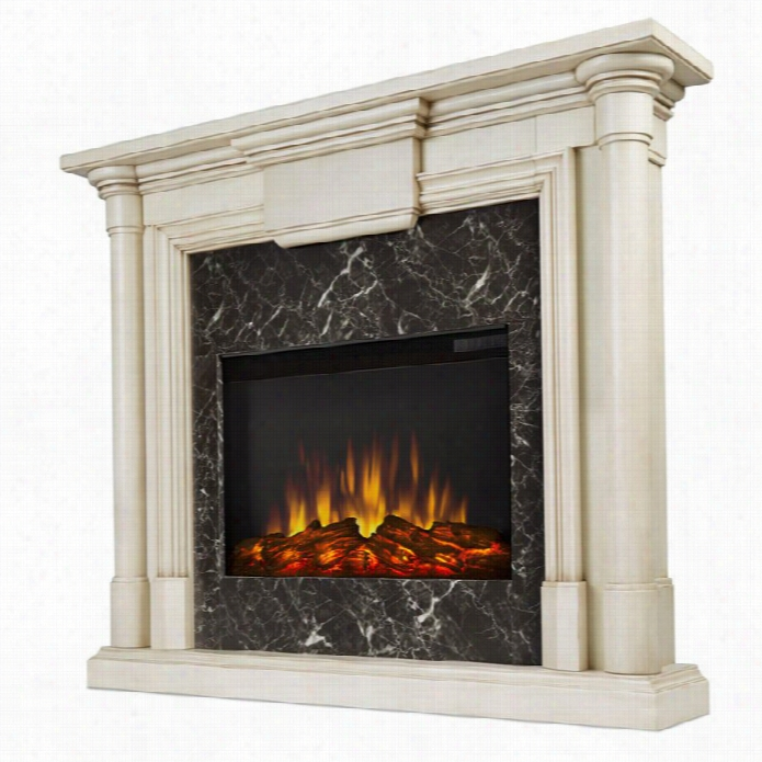 Real Flame Maxwell Iindoor Sli M E Lectric Fireplace I Antique White