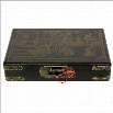Oriental Furniture Domino Set Box in Black