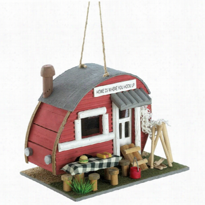 Zin Gza Nd Thingz Vintage Trailer Birdhouse