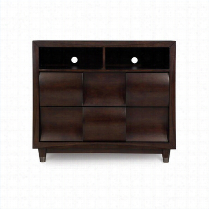 Mganussen Fuqua Wood Meia Chest In Black Cherry