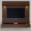 Manhattan Comfort Cabrini 2.2 Series 86 Theater Entertainment Center Panel in Nut Brown