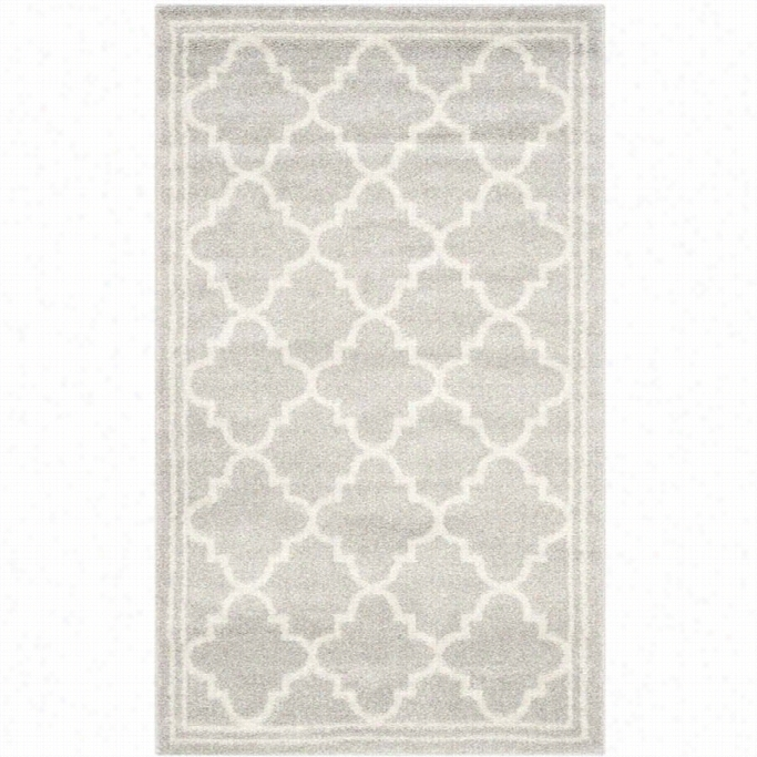 Safavieh Amherst Light Grey Indoor Outdoor Rug -2 '6 X 4'