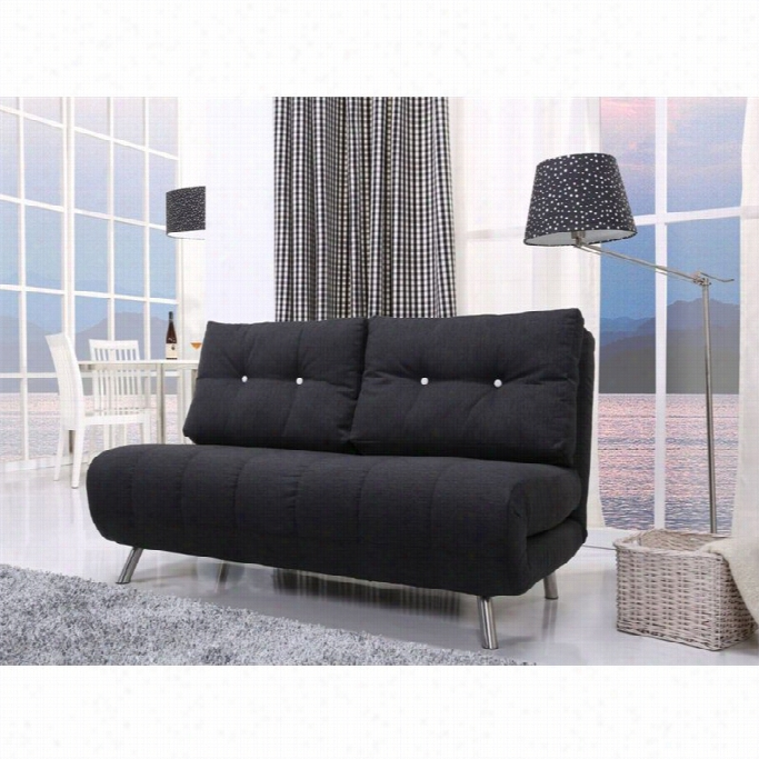 Gold Sparrow Tampa Fabric Sleeper Sofa In  Onyx