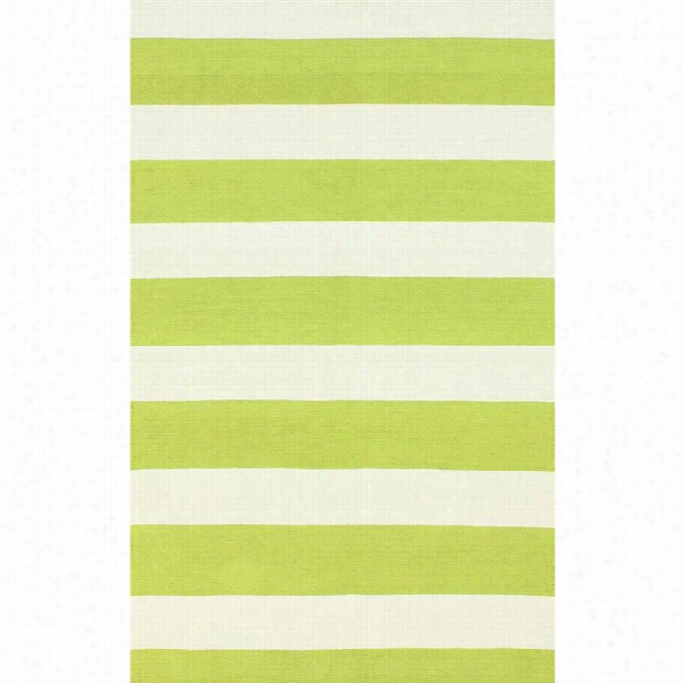 Nuloom 2' 6 X 10' Hand Hooked Striped Rug In Green