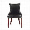 Safavieh Becca Leather Dining Chair in Black