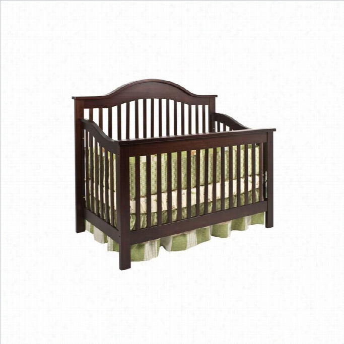 Davinci Jayden 4-in-1 Convertible Crib With Toddlre Rail In Espresso