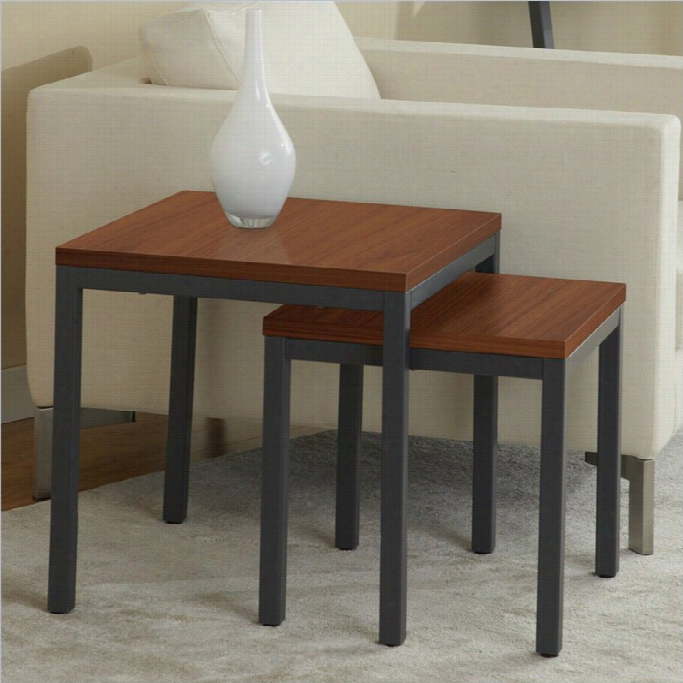 Jesper Ofice 100 Parson Collection Nesting Tables In Cherry(set Of 2)