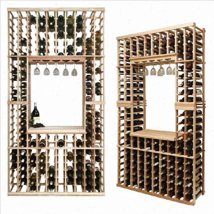W Ine Cellar Innovations Vintner Series 84 Hollowed Center Wine Rack Kit