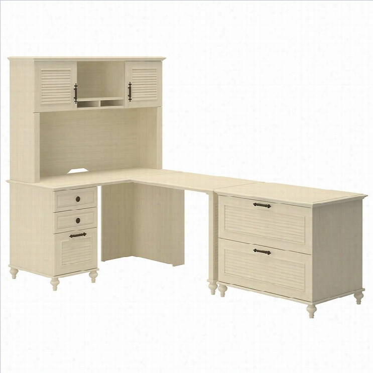 Kathy Ireland By Bush Volcano Dusk Home Office L-desk St
