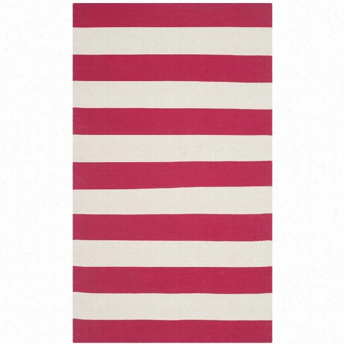 Safavieh Montauk Red Contemporary Rug - 3' X 5'