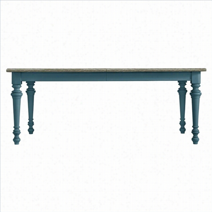 Stanley Furniture Coastal Living Retreat Rectangular Leg Dining Table In English Blue