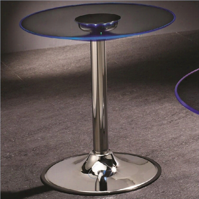 Coaster Led Transitioning End Table In Chrome @ Online