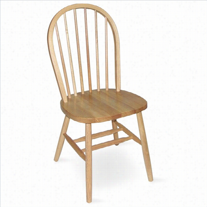 International Concepts 37 Spindleback Windsor Dining Chair In Natural Finish