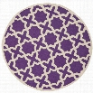 Safavieh Cambridge Purple Transitional Rug - Round 8'