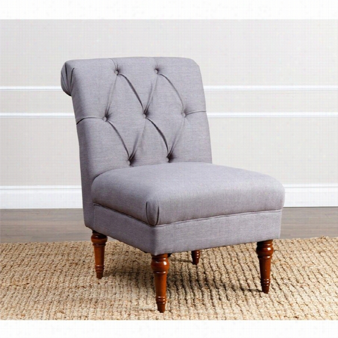 Abbyson Living Sienna Tufted Building Acecnt Chair In Gray
