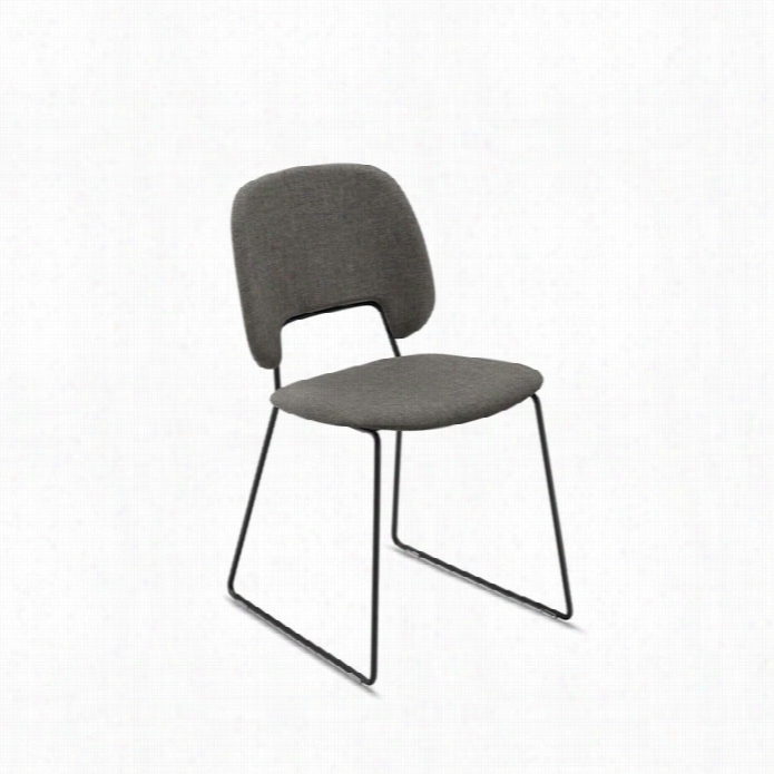 Domitalia Traffic 18.5x21.25 Stacking Chair In Flrit Brown And Black