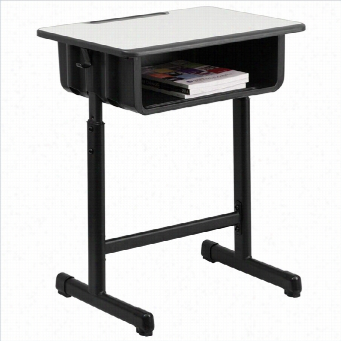 Flash Furniture Student Desk In Black And Gray