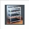 VTI BL Series 4 Shelf Audio Rack-Black / Black / Black
