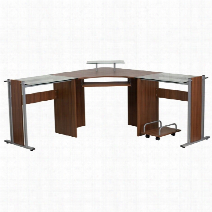 Flsh Furniture 95 Corner Desk In Brown