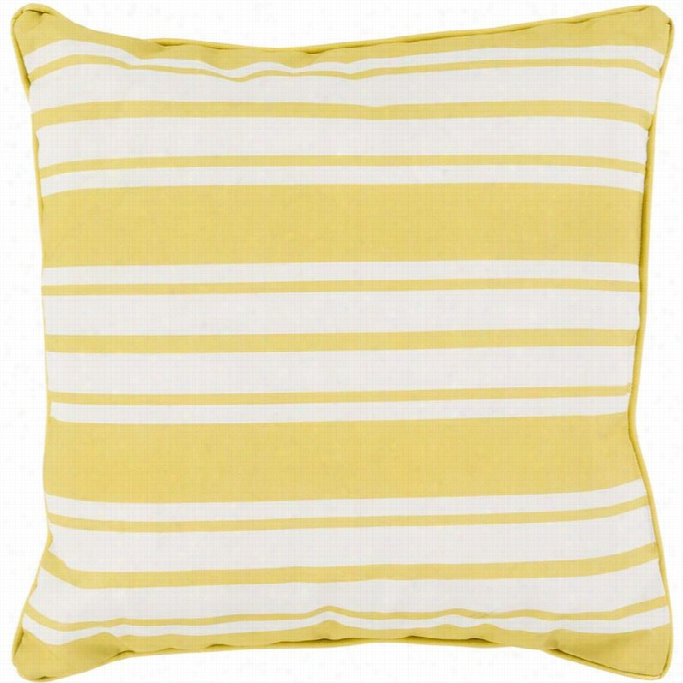Fine Surya Nautical Stripe Poly Fill 16 Square Pillow In Yellwo Gmtry Best Dining Table And Chair Ideas Images Gmtryco