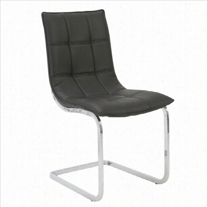 Eurostyle Chad Dining Chair In Bblack
