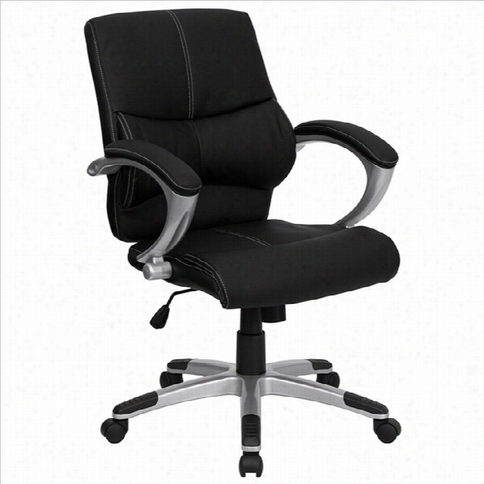 Flash Furniture Mid Back Contemporary Maanager S Office Chair In Black