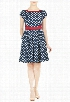 eShakti Women's Polka dot print bow tie dress