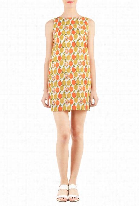 Eshakti Women's Lime Print Shift Dress