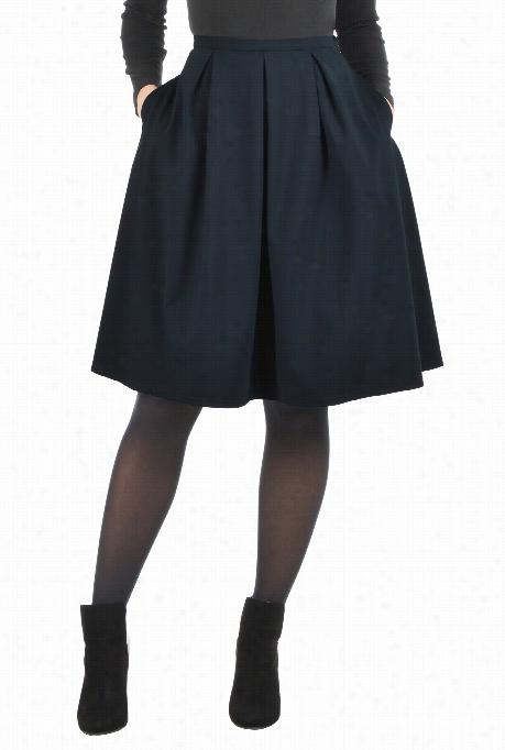 Eshakti Womsn's Ponte Knit Skater Skirt