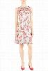 eShakti Women's Flounce ruffle floral chiffon dress