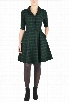 eShakti Women's Shawl collar plaid shirtdress