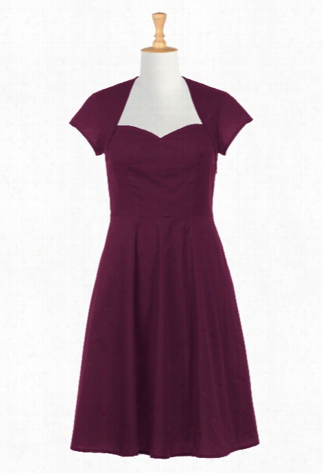 Eshakti Women's Shrug Style Poplin Dress