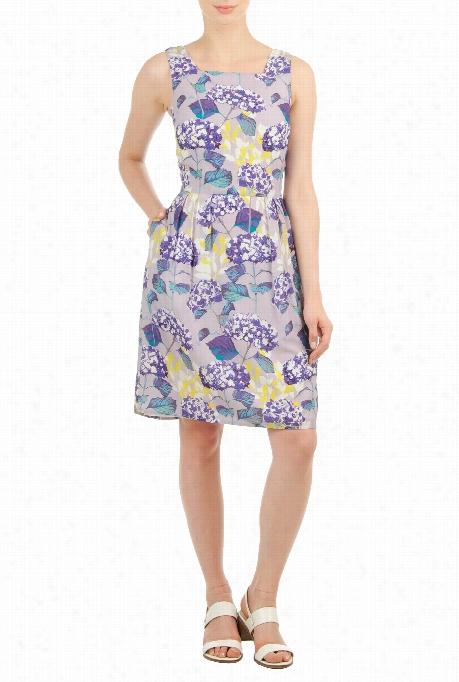 Eshakti Women's Watercolor Floral Print Dress