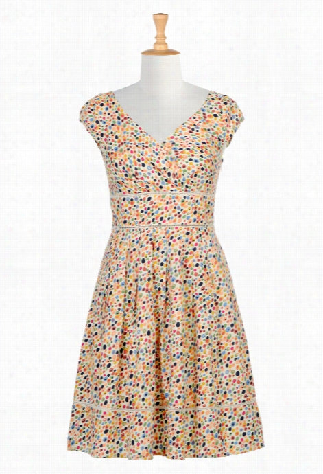 Eshakti Women's Candy Blooms Print Surplice Dress